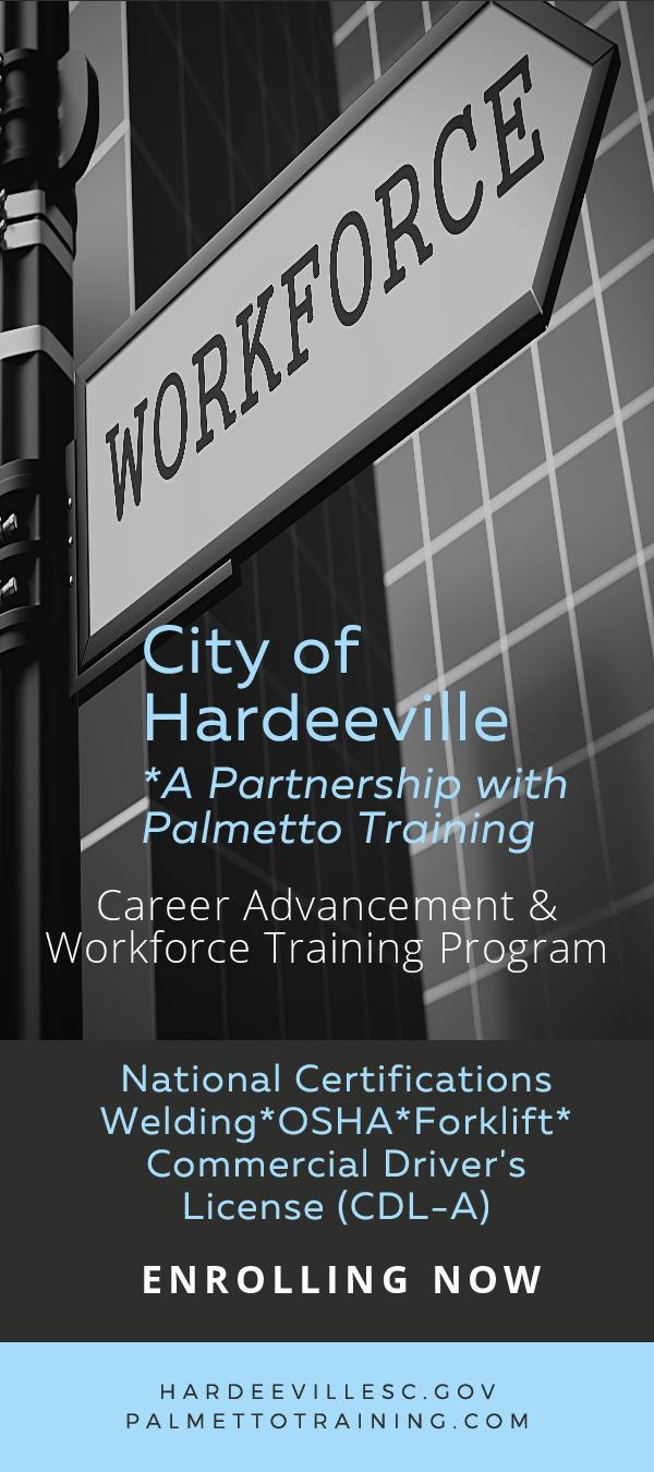 City of Hardeeville Career Advancement Workforce Training Opens in new window